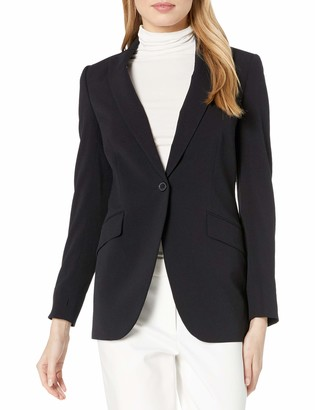 Anne Klein Women's Long 1 Button Jacket