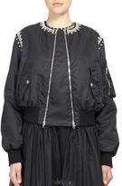 Givenchy Crystal-Detail Bomber Jacket
