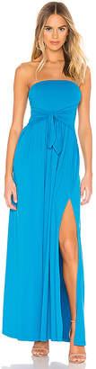 Susana Monaco Tie Front Strapless Dress