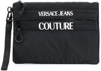 Versace Logo-Print Pouch