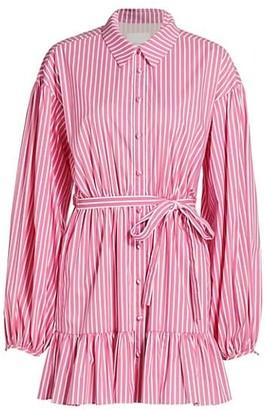 Cinq à Sept Kelly Belted Pinstripe Dress
