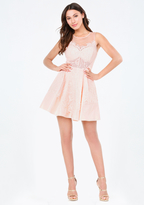 Bebe Heidi Lace Flared Dress