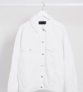 ASOS DESIGN Curve oversized denim jacket in white