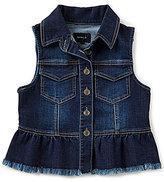 Takara Big Girls 7-16 Button-Down Denim Vest