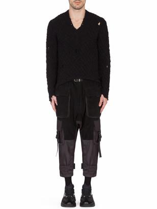 Dolce & Gabbana V-neck Wool Sweater Black