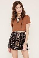 Forever 21 FOREVER 21+ Belted Geo Print Skirt