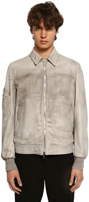 Neil Barrett Zip-up Leather Aviator Jacket