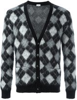 Saint Laurent harlequin knitted cardigan - men - Nylon/Mohair/Wool - M