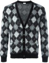 Saint Laurent harlequin knitted cardigan