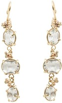 Tiana White Topaz On Solid Gold Drop Earrings