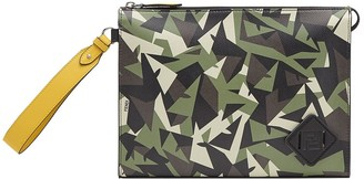 Fendi Camouflage-Print Clutch Bag