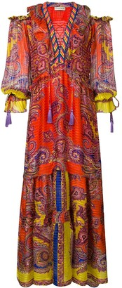 Etro Printed Flared Long Dress
