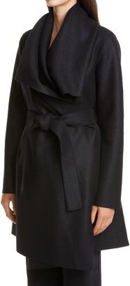 Harris Wharf London Draped Wool Coat