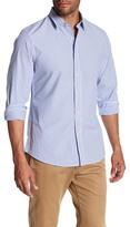 Slate & Stone Regular Fit Asher Long Sleeve Point Collar Shirt