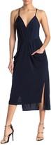 BCBGeneration Drape Pocket Faux Wrap Midi Dress