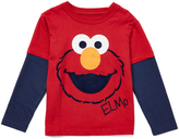 Children's Apparel Network Red Elmo Face Layered Tee - Infant Toddler & Boys