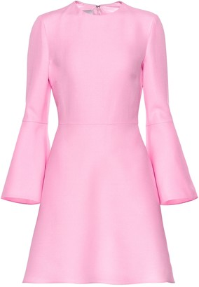 Valentino wool and silk crepe minidress