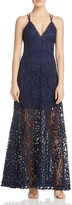 Aqua Crisscross Lace Maxi Dress - 100% Exclusive