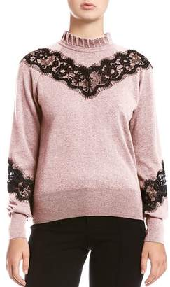 Bailey 44 Flora Lace-Inset Sweater