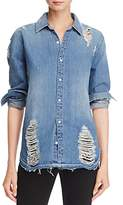 Joe's Jeans Vera Distressed Denim Shirt