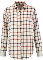 Monrow Plaid cotton-blend shirt