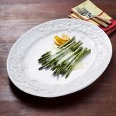 White Olive-Motif Italian Ceramic Platter