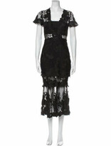 Thumbnail for your product : Three floor Lace Pattern Long Dress Black