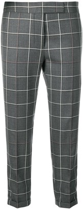 Thom Browne Shadow-Check Cropped Trousers