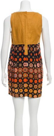 See by Chloe Linen Colorblock Dress