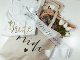 Etsy Bride Gift Set. Tote /Custom Sash/ Tank/ Bride Hanger. Bridal shower gift
