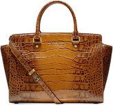 Handbag, Selma Large Croco Satchel