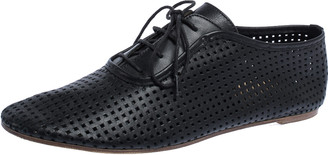 Maison Margiela Perforated Leather Lace Low Top Sneakers Size 37