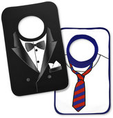 First Impressions Baby Set, Baby Boys 2-Pack Tuxedo Bibs