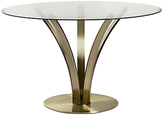 John Lewis Moritz Glass Top Dining Table, Antique Brass