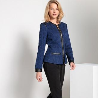 Anne Weyburn Straight Two-Tone Zipped Jacket