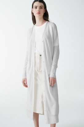 Cos Long Linen-Silk Cardigan