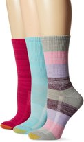 Gold Toe Women's Free Feed Stripe Crew Athletic Sport Sock 3-Pack