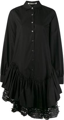 ANAÏS JOURDEN asymmetric midi shirt dress