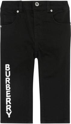 Burberry Boy's Aldric Straight-Leg Logo Pants, Size 6M-2