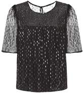 Velvet Claudie embellished top