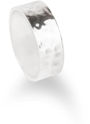 Aquila Jewellery Chunky Hammered Silver Ring - Agonda