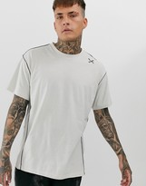 Religion oversized t-shirt with stitch detail in cream