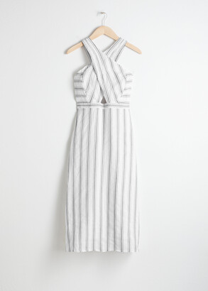And other stories Cross Front Linen Dress