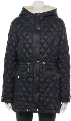 Madden-Girl Juniors' Faux-Fur Hood Anorak Jacket