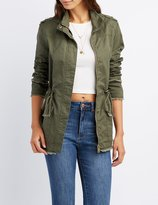 Charlotte Russe Distressed Anorak Jacket