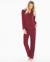 Soma Intimates Essential Pajama Set Jungle Red