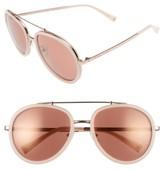KENDALL + KYLIE Women's Jules 58Mm Aviator Sunglasses - Crystal Black/ White/ Gold