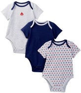 Little Me Sailboat Cotton Bodysuits - Set of 3 (Baby Boys)
