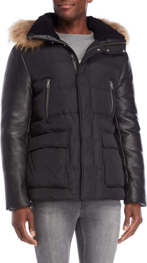 Mackage Real Fur Trim Hooded Down Jacket