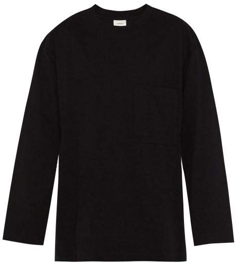 453aec1a12 Cotton Jersey Long Sleeved T Shirt - Mens - Black
